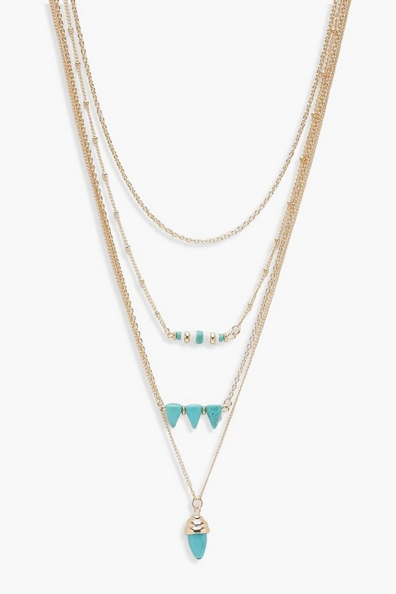 Rosie Layered Turquoise Bead Necklace
