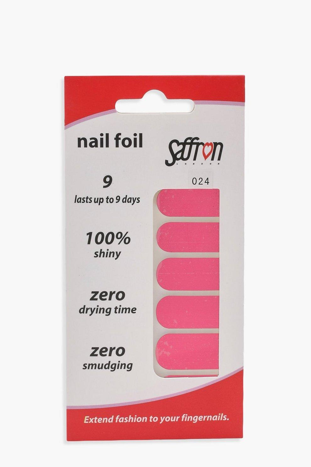 Saffron Red Nail Foils   Boohoo