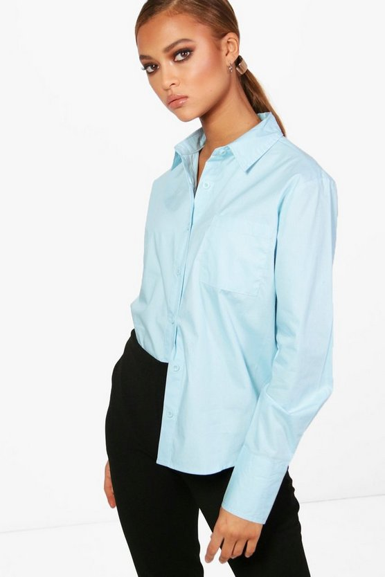 Maisie Poplin Tailored Shirt