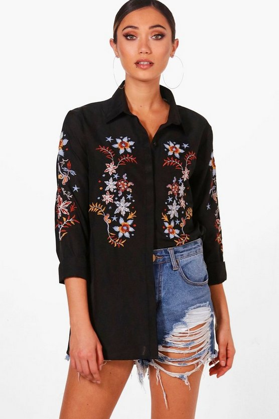 Embroidered Woven Shirt