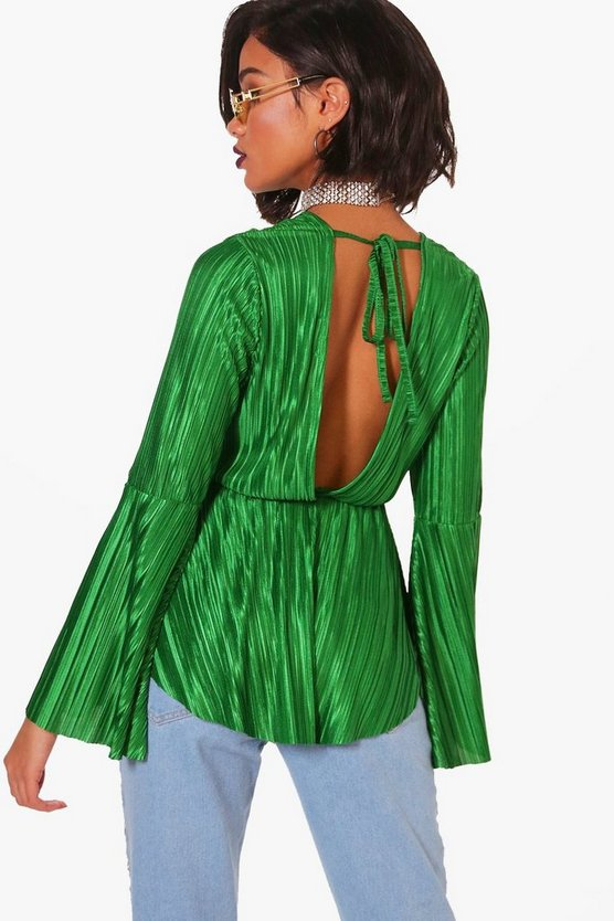 Grace Pleated Tie Back Top