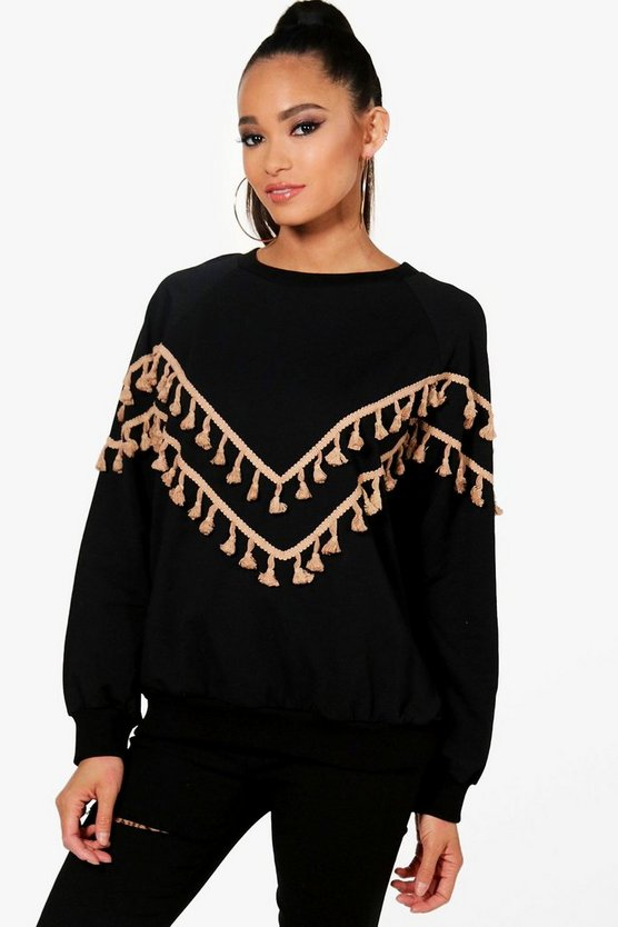 Elena Tassel Detail Sweater