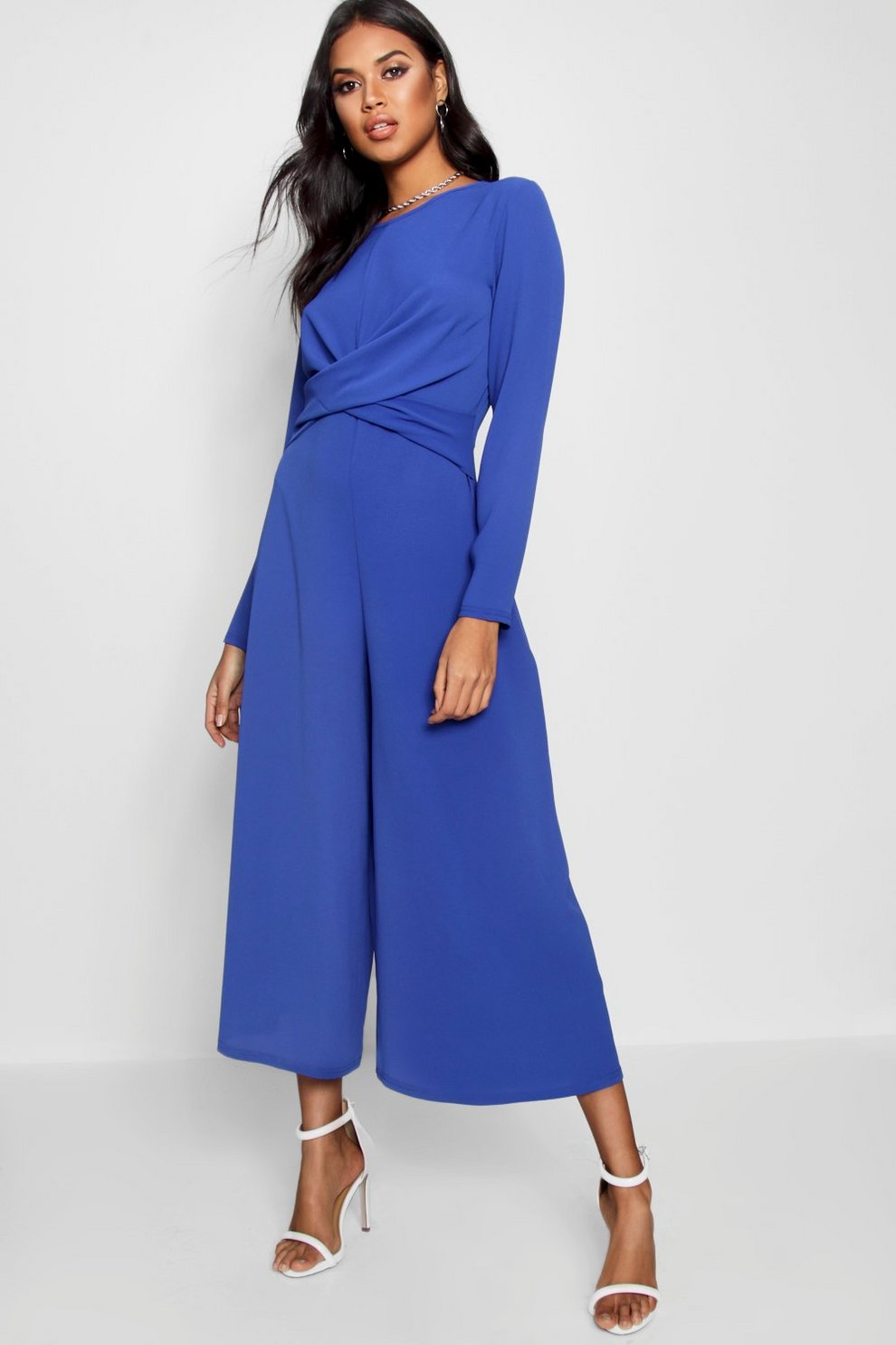 Boohoo Petite Knot Front Culotte Jumpsuit Cheap Explore Cheap Sale Pay With Paypal Cheap Price Wholesale Price Discount Price nt5y243ae4