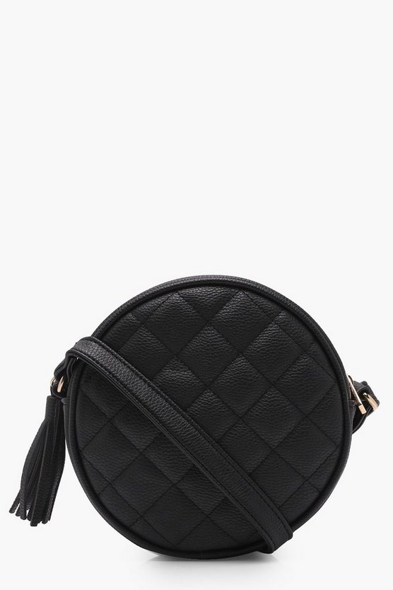 Bella Quilted Tassel Round Cross Body
