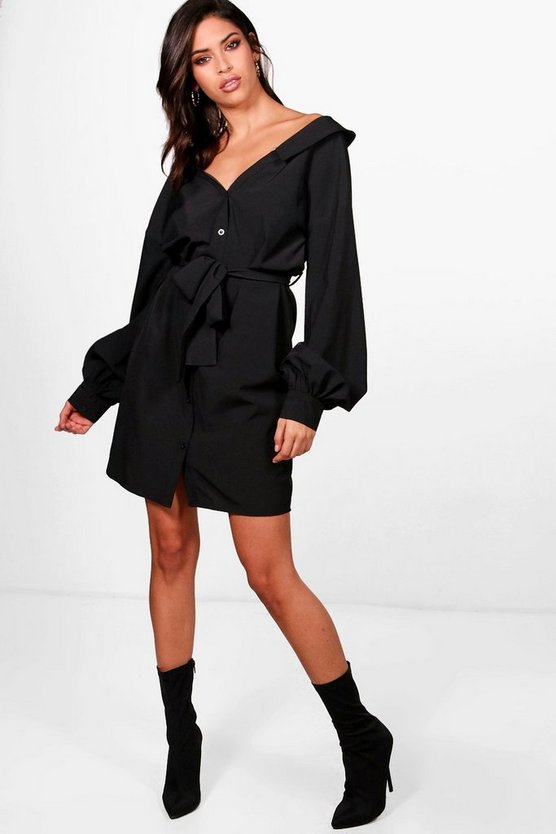 Serena Belted Shirt Dress