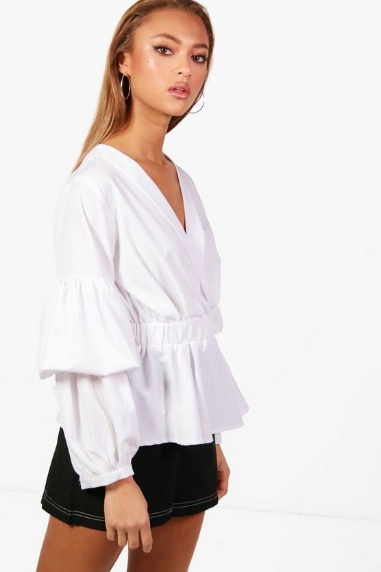 Hollie Rouched Sleeve Shirt