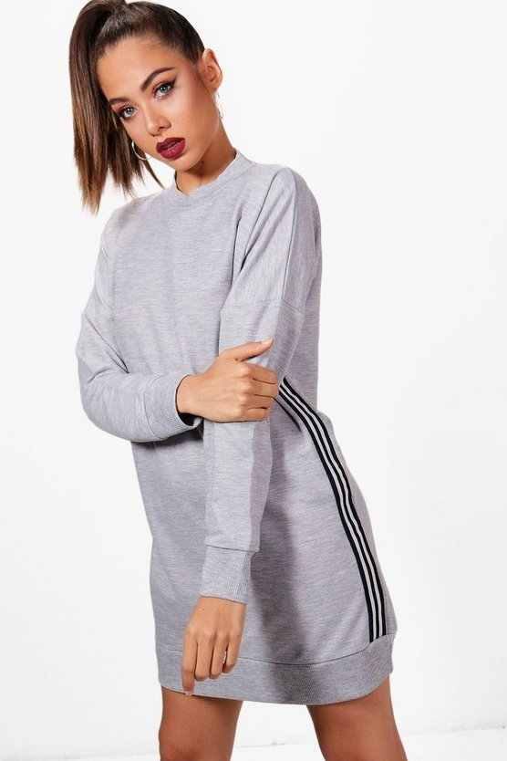 Lauren Stripe Tape Trim Sweat Dress