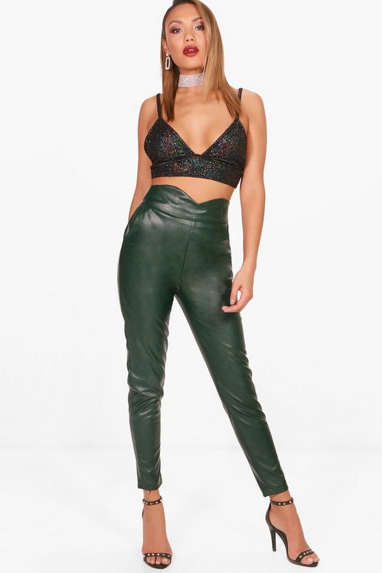 Lottie Faux Leather Trouser