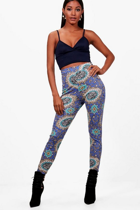 Nikita Scarf Print High Waist Leggings