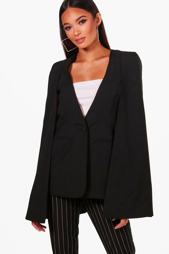 Rachael Boutique Cape Blazer