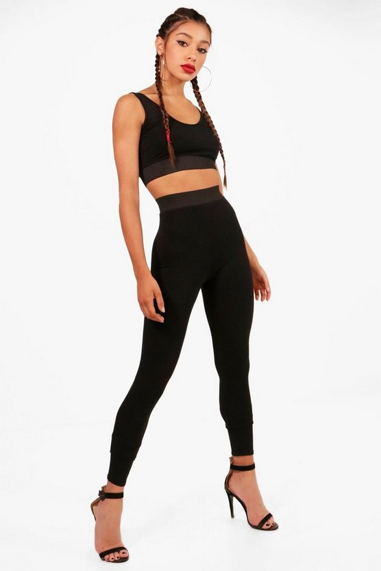 Kia Contrast Band Bralet and Legging Co-ord