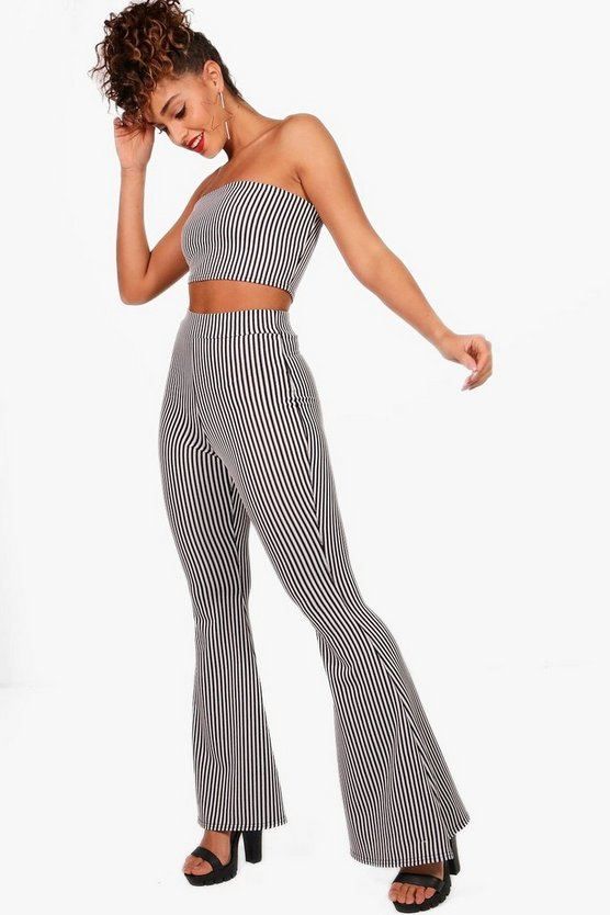 Stripe Bandeau and Trouser Co-ord