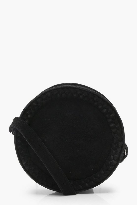 Real Suede Round Cross Body