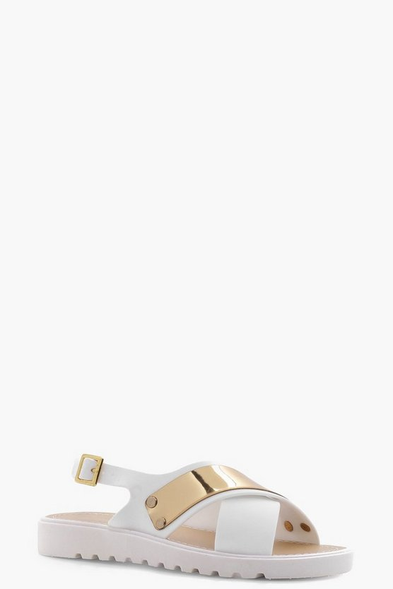 Niamh Cross Strap Cleated Sandal