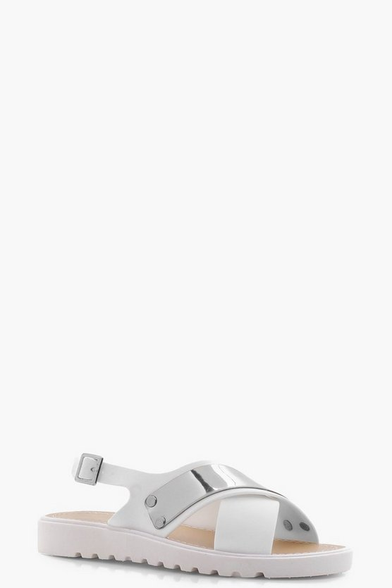 Cross Strap Cleated Sandal