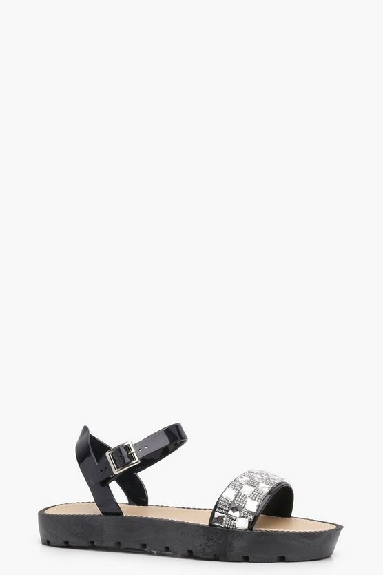Megan Embellished Cleated Sandals