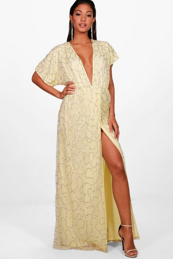 Boutique Tiai Sequin Tie Back Maxi Dress