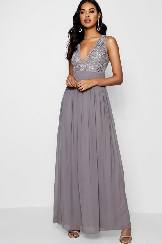 Boutique Meli Embellished Maxi dress