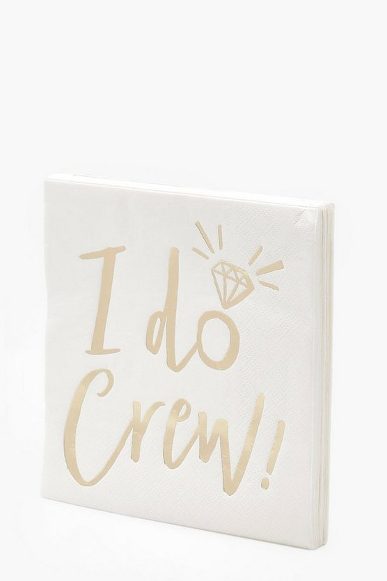 Ginger Ray I Do Crew Napkins