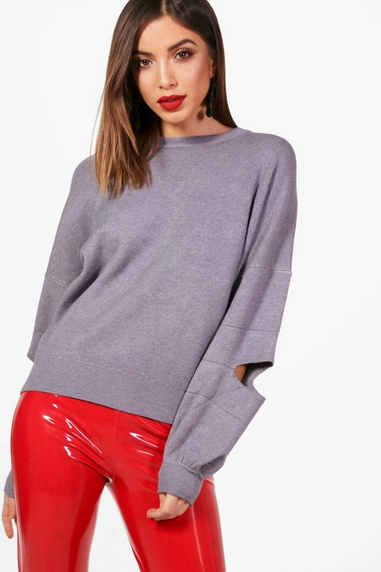 Nicole Cut Out Elbow Jumper