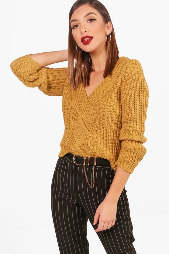Hayley V Neck Crop Jumper