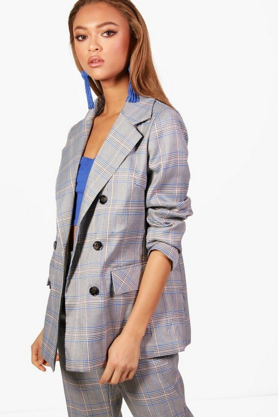 Frankie Checked Double Breasted Blazer