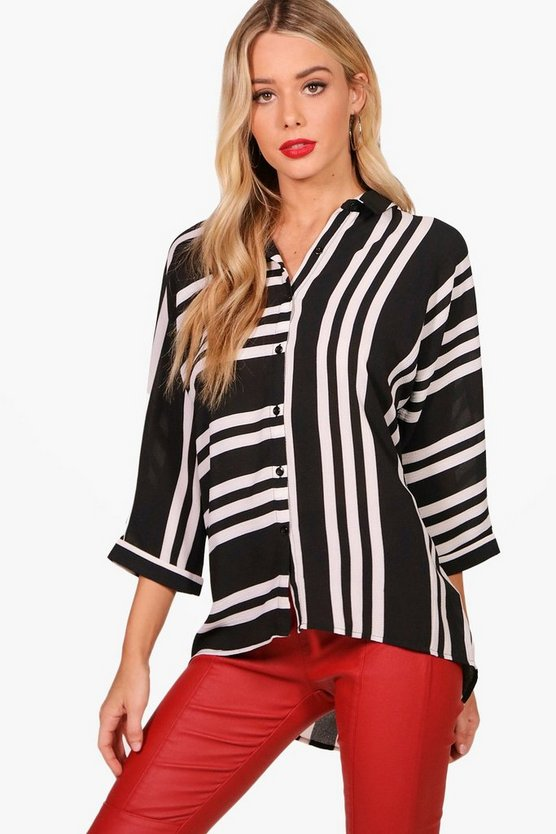 Avril Mixed Stripe Woven Shirt
