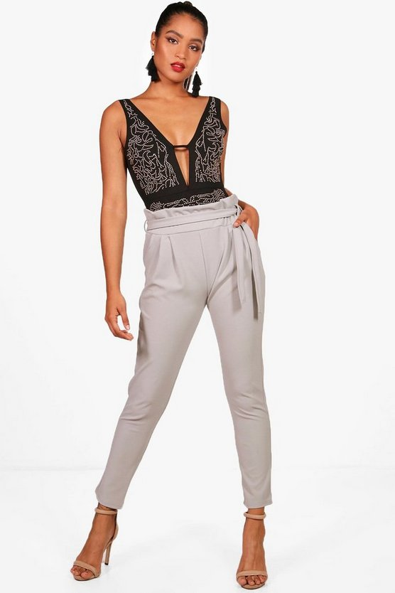 Paperbag Waist Tapered Trouser