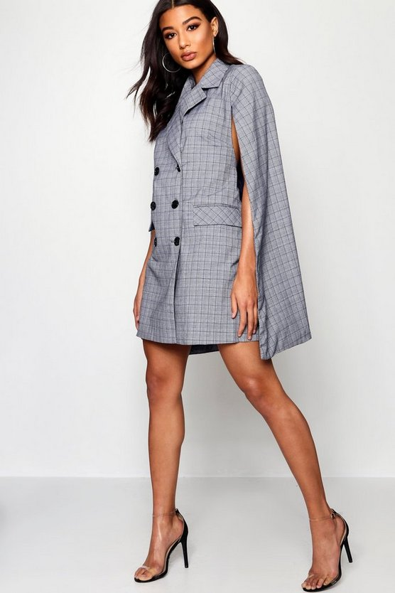 Sophie Check Double Breasted Blazer Dress