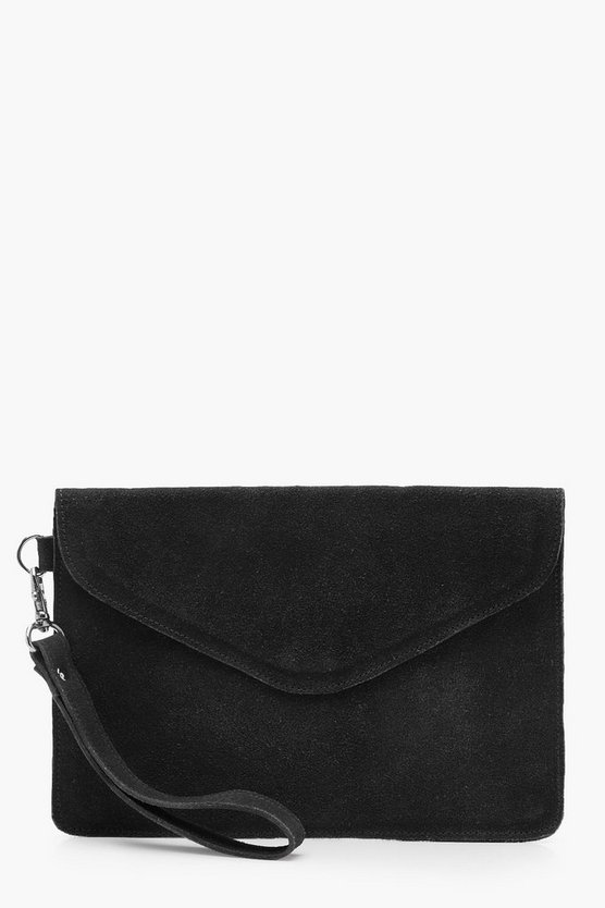Olivia Real Suede Envelope Clutch