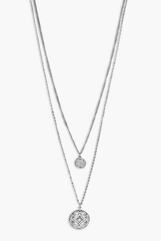 Rosie Double Coin Layered Necklace