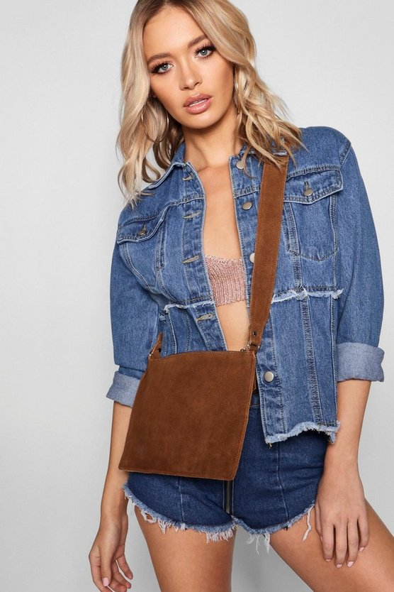 Real Suede Cross Body Bag