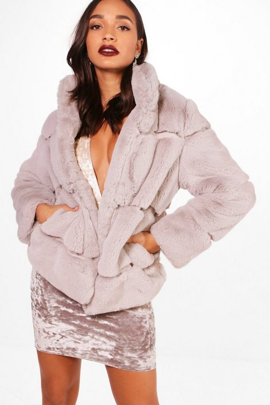 Ellie Boutique Faux Fur Coat