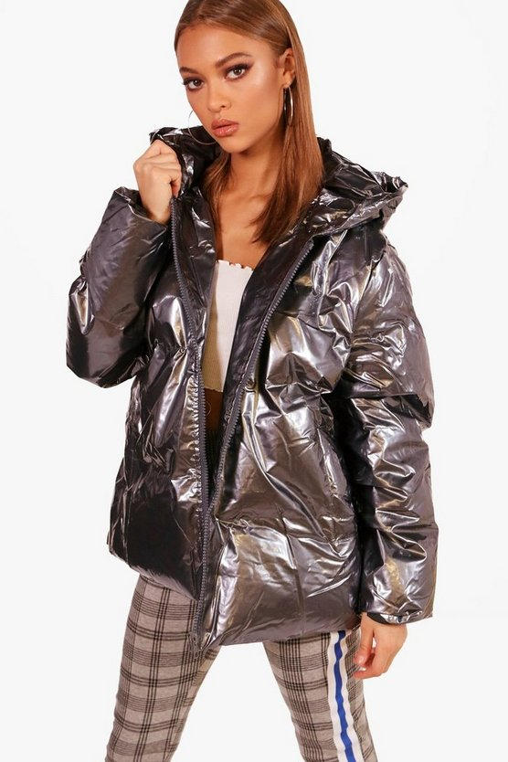 Millie Oil Slick Padded Jacket