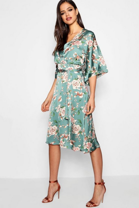 Carley Floral Batwing Midi Dress