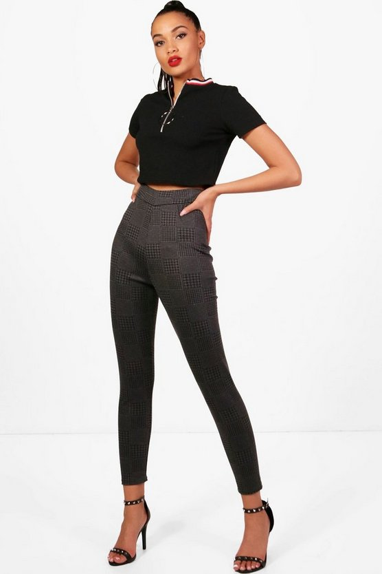 Esme Check Ponte Leggings