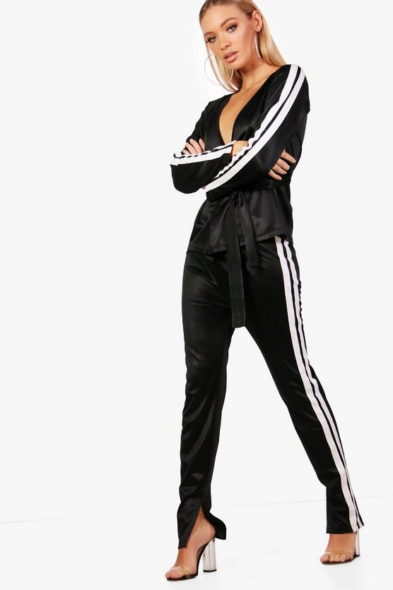Lizzie Athleisure Split Side Stripe Track Pant