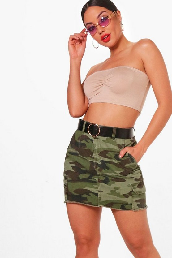 Gabby Basic Ruched Front Bandeau