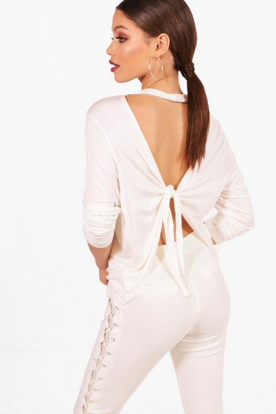 Cassie Tie Back Long Sleeve Top