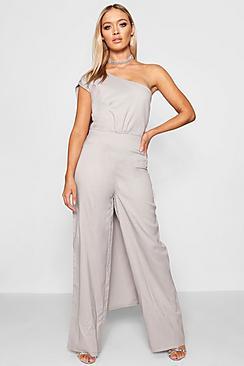 Boutique Asymmetric Drape Jumpsuit