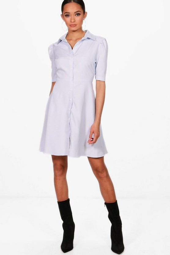 Ashleigh Stripe Shirt Skater Dress