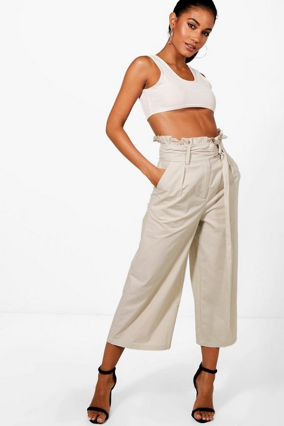 Paperbag Waist Ring Belt Trouser