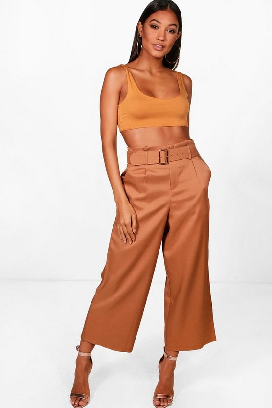 Annie High Waisted Belted Trouser