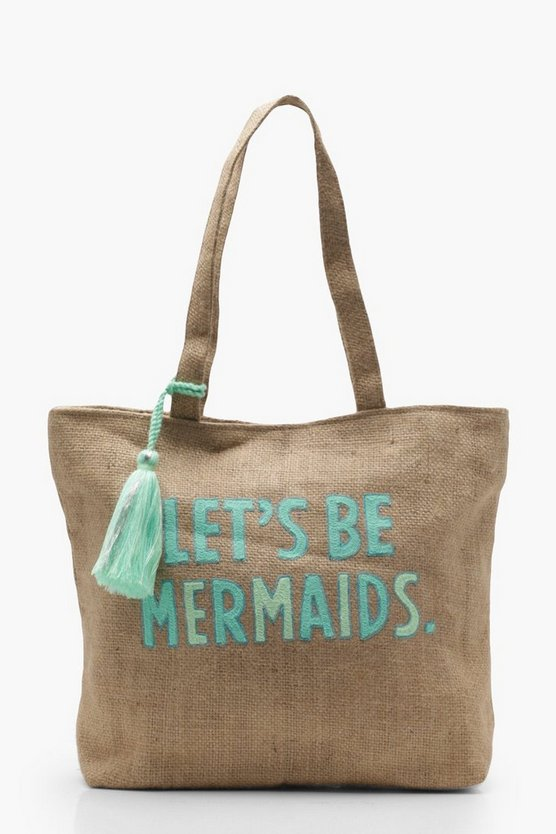 Lets Be Mermaids Beach Bag