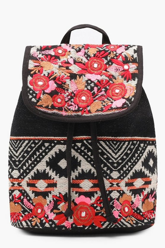 Embroidery Aztec Backpack
