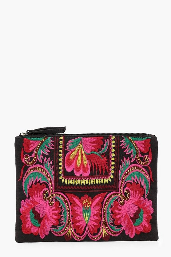 Kate Floral Embroidery Clutch