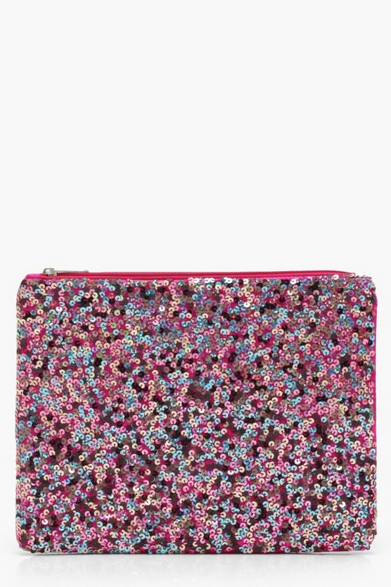 Hannah Rainbow Sequin Clutch