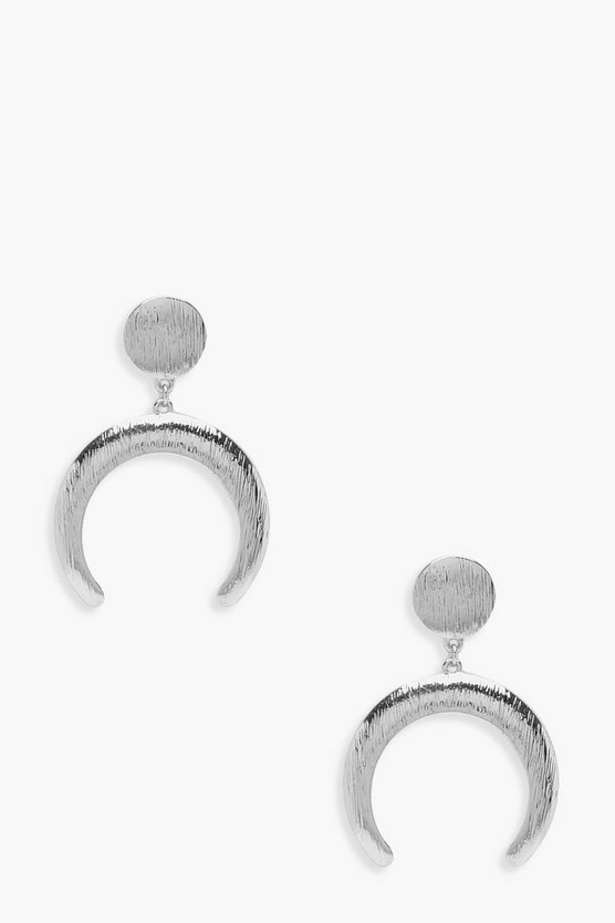 Olivia Textured Horn Boho Earrings