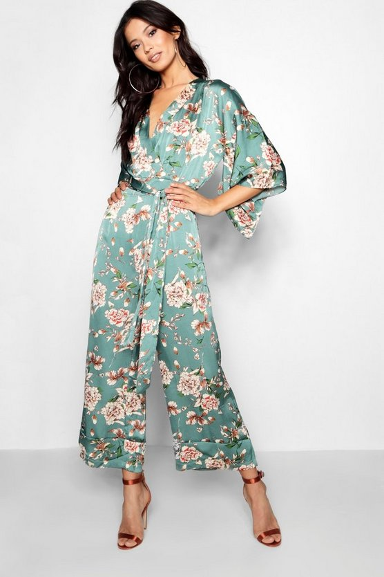Bethanie Floral Batwing Jumpsuit