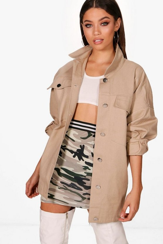 Oversized Cotton Twill Jacket